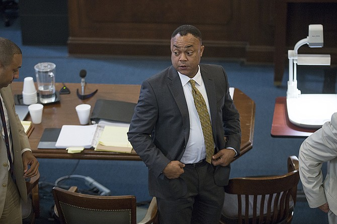 On June 18, 2018, Hinds County District Attorney Robert Shuler Smith spoke to Jackson's officer-ID task force about how officer-involved shooting cases go through the system. He is pictured here during one of his trials.