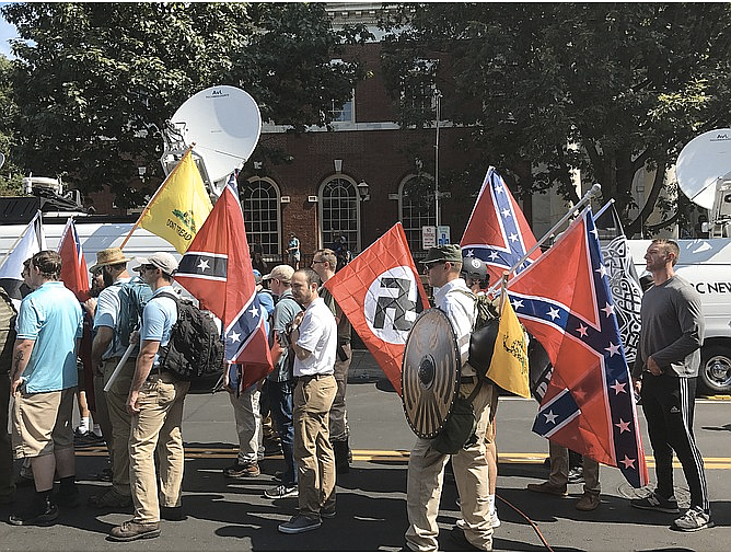 """Authorities have said Fields, described by a former teacher as having a keen interest in Nazi Germany and Adolf Hitler, drove his speeding car into a group of people demonstrating against the """"Unite the Right"""" rally Aug. 12 that drew hundreds of white nationalists to the college town, where officials planned to remove a Confederate monument."""