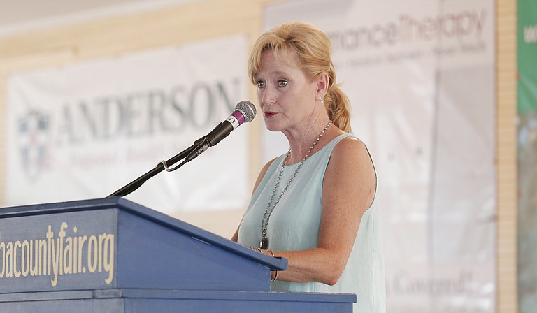 Sen. Cindy Hyde-Smith was among 18 politicians speaking on the Fourth of July at an old courthouse in Jacinto in northeastern Mississippi.