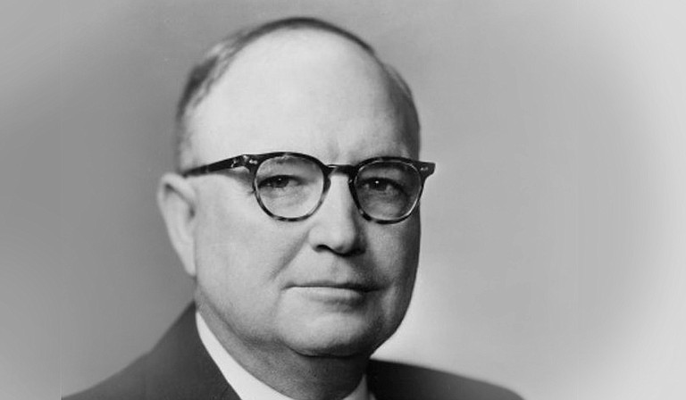 The late Brad Dye, Mississippi lieutenant governor from 1980 to 1992 after stints as state treasurer, other offices and in 1954, was a driver for U.S. Sen. James O. Eastland (pictured) during his re-election campaign.