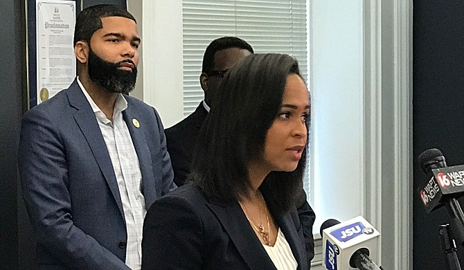 The City's new communications manager, Candice Cole, led a press conference on July 11, 2018, to talk about the City's new approach to interlocal agreements with the Hinds County Board of Supervisors.