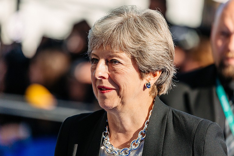 """In a fresh bout of diplomatic whiplash, President Donald Trump denied Friday he had criticized Prime Minister Theresa May (pictured) and declared the U.S.-U.K. relationship """"the highest level of special""""—not long after lobbing thunderous broadsides against her."""