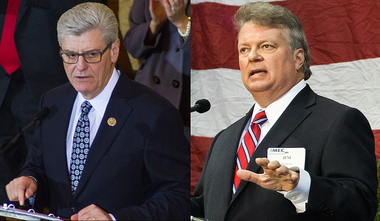 Gov. Phil Bryant (left) and Attorney General Jim Hood (right), along with Secretary of State Delbert Hosemann are defendants in a lawsuit alleging African American votes are diluted in State Senate District 22.