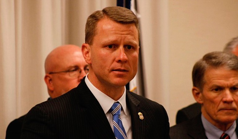 The City of Jackson will apply for a federal violent-crime fighting grant through Project Safe Neighborhoods: the umbrella program over U.S. Attorney Mike Hurst's iteration, Project EJECT. He is pictured here at a press conference in April 2018.