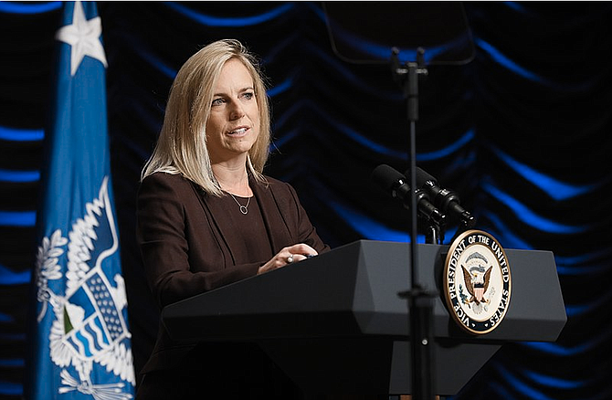 "No. 2 Senate Democrat Richard Durbin of Illinois said he wanted Homeland Security Secretary Kirstjen Nielsen (pictured) to resign, saying the policy shows ""the extremes this administration will go to to punish families fleeing"" horrible conditions, adding, ""Someone in this administration has to accept responsibility."""