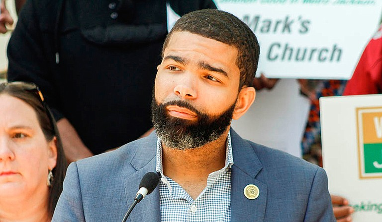 At an Aug. 13 press conference dedicated to the Jackson Zoo, Mayor Chokwe Antar Lumumba spoke about plans to bring in a new management company to run the facility. He is pictured here at an April 2018 press conference about the zoo.