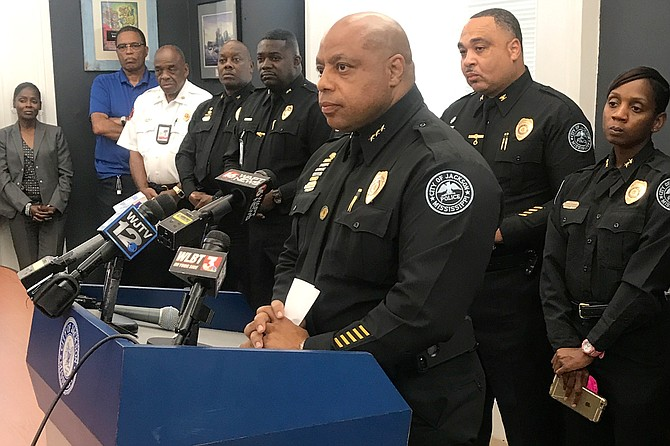 "Interim Police Chief James Davis announced the start of a Violent Crime Task Force on Aug 14 to ""saturate"" the streets, looking for people who have committed armed robberies following two on Aug 13. He is pictured here at a June 2018 press conference."