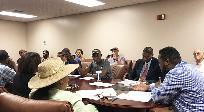In what was supposed to be the final meeting of Mayor Chokwe Antar Lumumba's officer-involved-shooting task force, activists interrupted and ultimately delayed the group's agenda, forcing another meeting on Sept. 6, 2018.