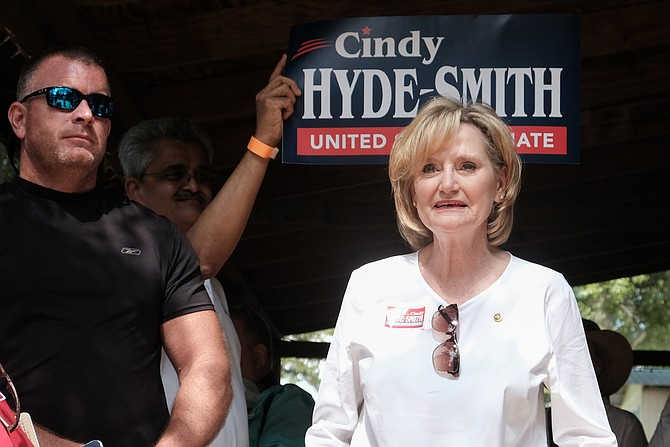 Republican U.S. Sen. Cindy Hyde-Smith appeared at the Neshoba County Fair in Philadelphia, Miss., on Aug. 2, 2018, where she campaigned to keep her U.S. Senate seat. On Sept. 18, she criticized her Republican challenger, Mississippi State Sen. Chris McDaniel, for disparaging comments about black Mississippians and women.