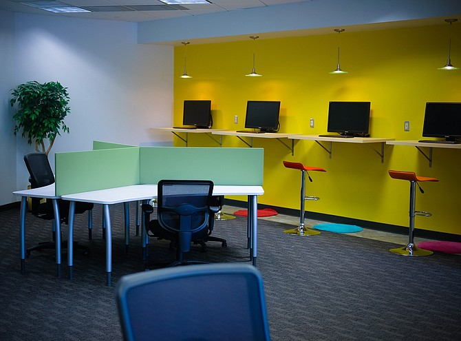 Though the full-time office space at Triad Business Centers is at 90 percent occupancy, the company has virtual office packages, some of which allow business owners to use the incubator space on the first floor.