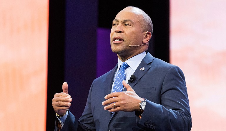 Former Massachusetts Gov. Deval Patrick plans to appear with U.S. Senate candidate Mike Espy at an event supporting small businesses in Hattiesburg, Miss., on Sept. 22. Sipa via AP Images