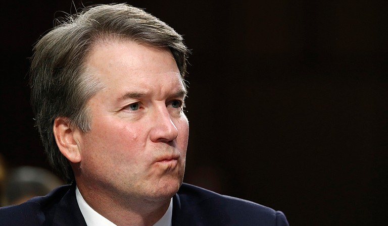"""At a United Nations General Assembly meeting on Monday, Sept. 24, President Donald Trump called the new allegation of sexual misconduct against U.S. Supreme Court nominee Brett Kavanaugh """"totally political,"""" unfair and unsubstantiated. Photo by Jacquelyn Martin/Associated Press"""