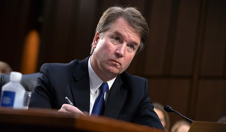Christine Blasey Ford, who has come forth with allegations of sexual assault against U.S. Supreme Court nominee Brett Kavanaugh (pictured), is testifying before the Senate Judicial Committee on Thursday, Sept. 27.