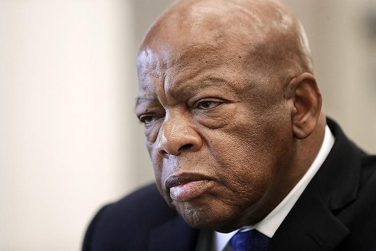 Civil Rights veteran John Lewis, a Georgia congressman, urged Mississippi voters to support Democratic U.S. Senate candidate Mike Espy. Photo courtesy Mark Humphrey/AP Photos