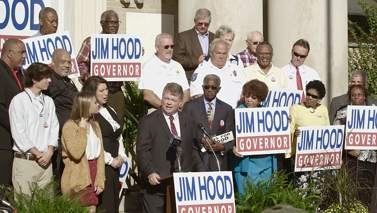 Mississippi Attorney General Jim Hood announced his run for governor on Oct. 3 in Houston, Miss. Photo courtesy Jim Hood Campaign