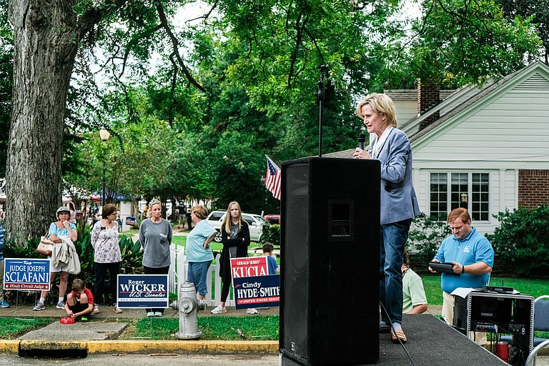 In a secretly recorded video, U.S. Sen. Cindy Hyde-Smith (pictured) said she feared joining her opponents in a debate would give one of them, Republican Chris McDaniel, free publicity.