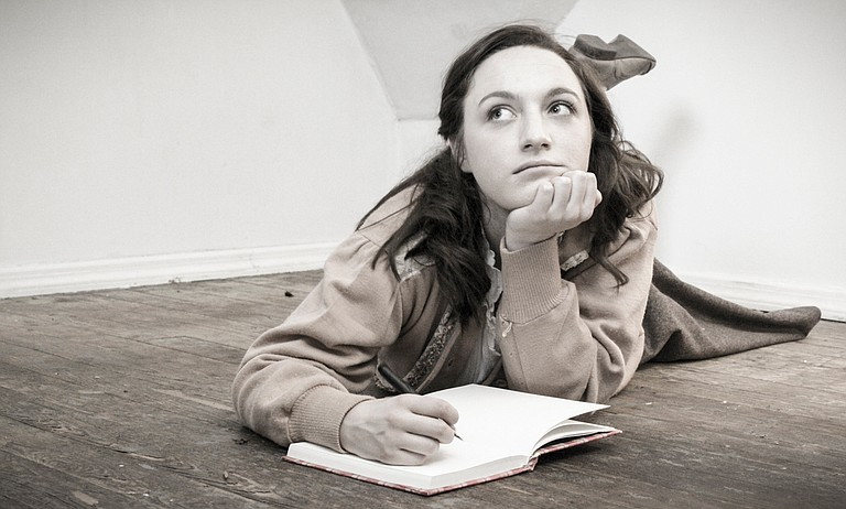 "New Stage Theatre's production of ""The Diary of Anne Frank"" is Oct. 23-Nov. 4. Elizabeth Thiel (pictured) plays the title role. Photo courtesy New Stage Theatre"