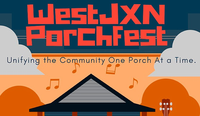 WestJXN Porchfest will be a free, family-friendly celebration of local musicians and businesses, and will feature performances from DJ Expo and the Southern Komfort Brass Band, and food for sale from Steamer's Shrimp and Crab Market, Norma Ruth's, Sherria's Chicken Coop and OhhLaLa's Bakery. Photo courtesy WestJXN Porchfest