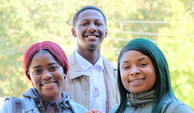 Tougaloo students Samys Douglas, Zarius Holliman and Twanesha Jones have all drawn inspiration from their college to vote on Nov. 6.