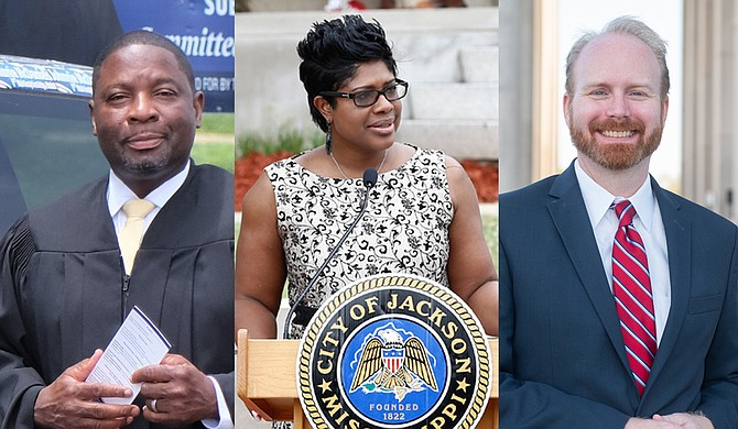 Unofficial Hinds County election results show that (left to right) Johnnie McDaniels for Hinds County Court Sub-District 3; Rep. Adrienne Wooten, D-Jackson, for Hinds County Circuit Court District 1; and David McCarty for Court of Appeals District 4-2 will all likely be on the Nov. 27, 2018, runoff ballot. File Photo