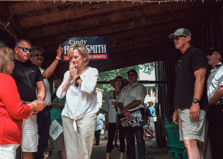 """Sen. Cindy Hyde-Smith would not own the problem of her """"hanging"""" remark."""