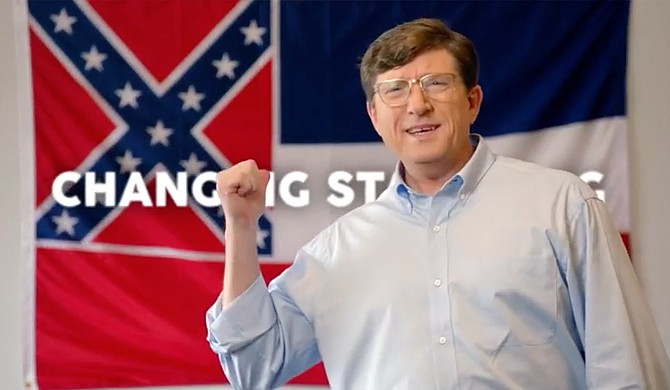 U.S. Senate candidate David Baria took what many would say was a daring political stand on the Mississippi flag during his campaign. Photo courtesy Baria Campaign