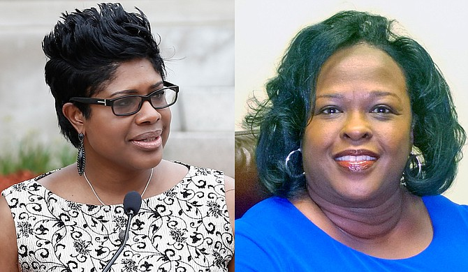Rep. Adrienne Wooten (left) and former Hinds County District Attorney Faye Peterson (right) won circuit court seats in the judicial run-off, creating a woman majority and cementing the first all-black Hinds County Circuit Court bench.