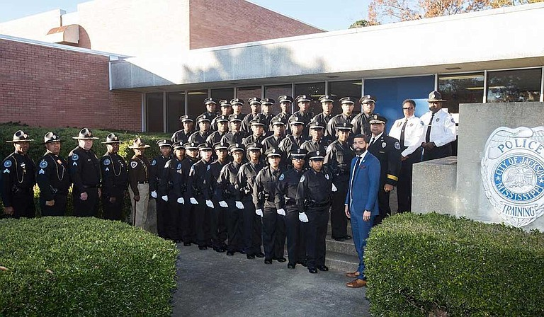 The 57th Jackson Police Department Recruit Class graduated on Dec. 21, 2018. These 29 officers will begin work in a city with a 30-percent homicide increase from 2017 to 2018. Credit: Courtesy City of Jackson