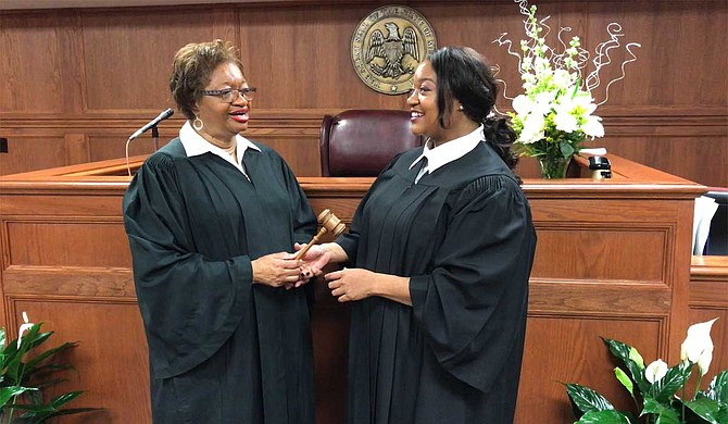 Hinds County Chancery Court Judge Patricia Wise (left) retired after nearly 30 years on the bench, clearing the way for her daughter, newly elected Judge Crystal Wise Martin, (right) to continue her legacy.