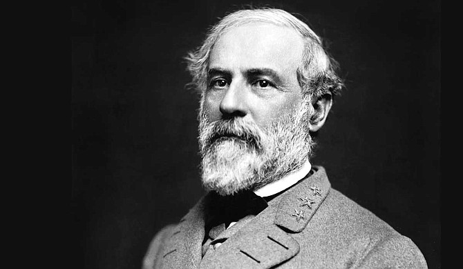 """The head of the Mississippi state agency that sent out a tweet this week honoring Confederate General Robert E. Lee (pictured) once attended a rally of a racist organization that refers to black people as a """"retrograde species of humanity."""" Photo courtesy Julian Vannerson"""