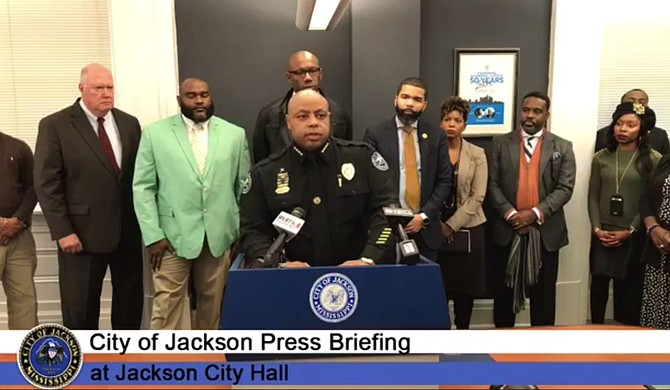 JPD Chief James Davis faced a double crisis that started Jan. 13—the murder of a preacher in the Washington Addition, followed by allegations that an officer may have killed a different man while looking for the murderer. Photo courtesy City of Jackson