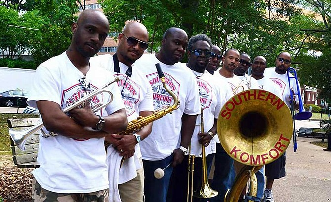 The Southern Komfort Brass Band will perform during this year's Hal's St. Paddy's Festival after the parade on the morning of March 23. Photo courtesy Southern Komfort