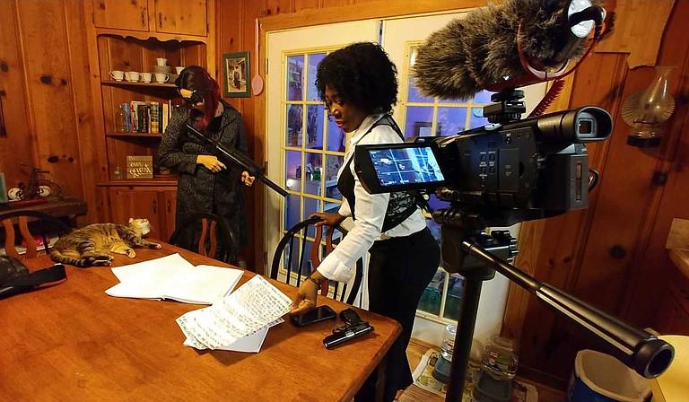 "Filmmaker Curtis Everitt has created films such as the thriller ""Haul,"" which stars Becca Larkin (left) and Sylvia Gayden (right). Photo courtesy Saint Studio"