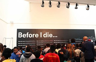 "The Greater Jackson Arts Council and Visit Jackson unveiled Jackson's ""Before I Die"" wall, a project that artist and activist Candy Chang began in 2015."