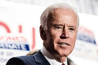 Vice President Joe Biden talked about his mentor James O. Eastland at a rally for Democrat Doug Jones in Birmingham, Ala., in 2017.
