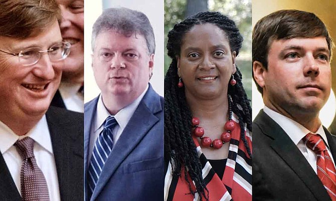 Republican Lt. Gov. Tate Reeves and Democratic Attorney General Jim Hood raised the most in the first quarter of Mississippi's 2019 governor's race, while opponents Velesha P. Williams and Robert Foster raised more modest sums.