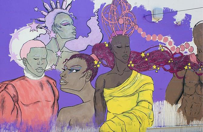 Krystal Jackson's mural for Cooperation Jackson's Seven Days Community Arts Festival