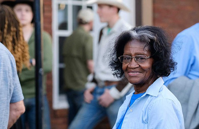 Coe Alice Sturgis, 82, testified against the proposed Enviva wood pellet mill in George County on May 14, 2019.