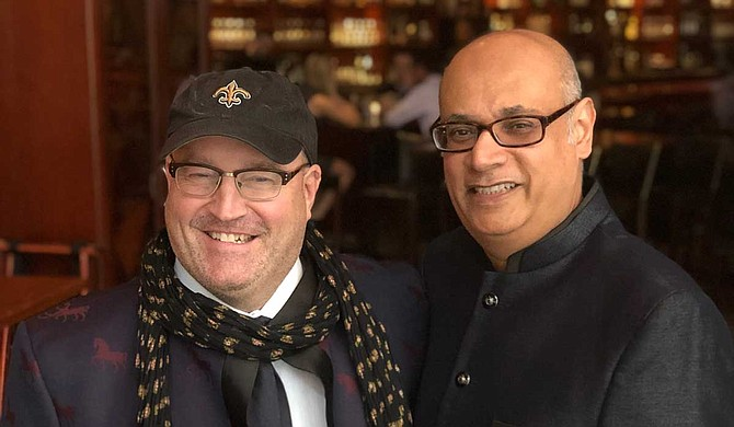 City Grocery owner John Currence (left) with Vishwesh Bhatt (right) Photo by Elizabeth Monteith
