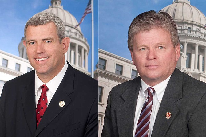 """Republican Speaker Philip Gunn (left) said Friday that the House Ethics Committee will """"closely monitor this case"""" in regard to Rep. Doug McLeod's (right) domestic violence charge against his wife."""
