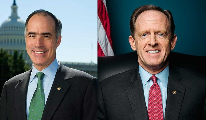 Sen. Bob Casey, D-Pa., (left) along with Sen. Pat Toomey, R-Pa., (right) released a list of nursing homes the Centers for Medicare and Medicaid Services provided to them, which documented problems whose names were not publicly disclosed by the government. Photo courtesy U.S. Senate