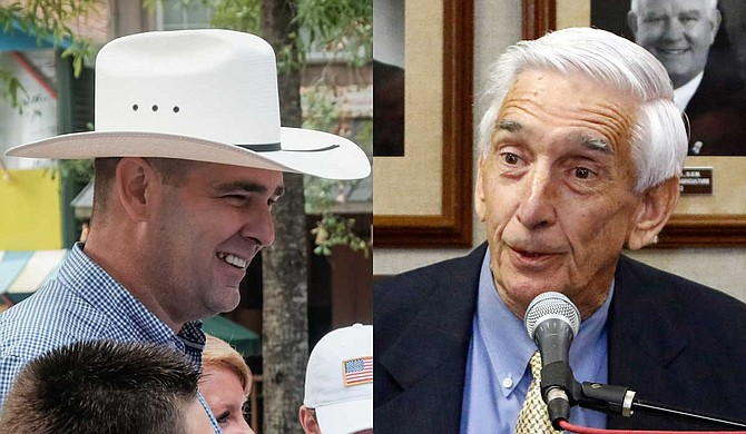 Mississippi Agriculture Commissioner Andy Gipson (left) said he does not blame the officers involved in the shooting death of his father, Harry Gipson (right). Photo by Rogelio v. Solis via AP
