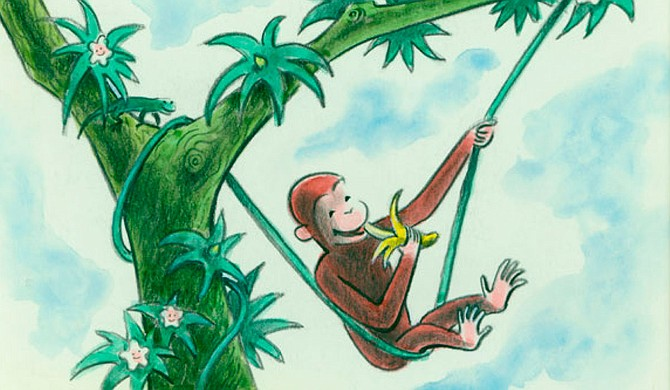 The Curious George Collection includes original illustrations and manuscripts from the books' creators, H.A. and Margret Rey. Photo courtesy USM/de Grummond Children's Literature Collection