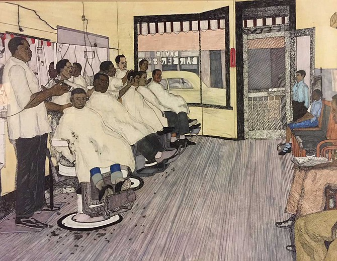 "The Mississippi Invitational will include pieces such as ""Saturday Evening at the Barbershop"" by Joseph Johnson. The exhibit will be at the Mississippi Museum of Art in downtown Jackson from June 29-Aug. 11. Photo courtesy Joseph Johnson"