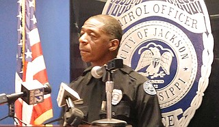 Sam Brown, the Jackson Police Department's public information officer, announced on June 25 that Jackson police officers will begin wearing Getac body-worn cameras. Photo by Josh Wright