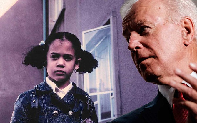 At a Democratic presidential debate on Thursday night, former Vice President Joe Biden defended himself after U.S. Sen. Kamala Harris of California criticized his opposition to busing—a program that guaranteed her a racially integrated education in the 1970s. Biden photo by Ashton Pittman; Kamala Harris photo courtesy of Kamala Harris for the People.