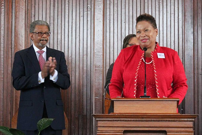 Carmen J. Walters became the 14th president of Tougaloo College on July 1. She is the second female president of Tougaloo after her predecessor, Beverly Wade Hogan, who held the position since 2002. Photo by Jordan Williams