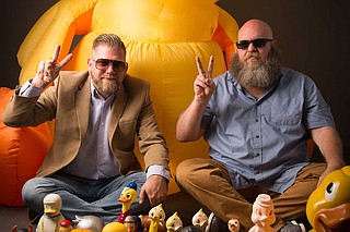 The Mississippi Museum of Art will showcase Dan Magee's (right) collection of rubber ducks, along with Allen Cotton's (left) photos of the ducks. Photo by Dan Magee