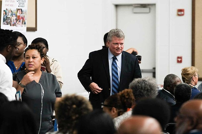 Mississippi Attorney General Jim Hood, a Democratic candidate for governor, spoke at the Women for Progress forum in Jackson on July 23, 2019. Photo by Ashton Pittman