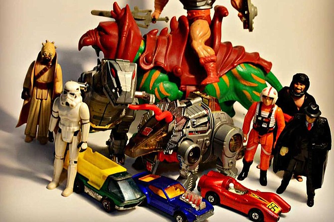 The Mom's Trash Can Toy & Collectibles Super Show will have more than 40 vendors selling vintage Hot Wheels, Transformers toys, G.I. Joe action figures and other classic toys. Photo by Neal Bumpus